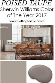 neutral paint colors for kitchen and living room. sherwin williams poised taupe: color of the year 2017. paint colors for 20172017 living room colors2017 kitchen neutral and