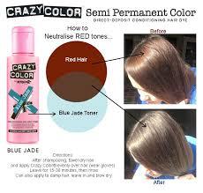 Crazy Colour Semi Permanent Ash Brown Blue Green Teal