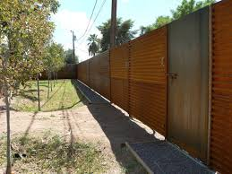 rusted corrugated metal fence. Simple Corrugated Back And The Fence Had Rusted To A Lovely Shade Of Burnt Sienna The  Trees While Slightly Fried At Tips Survived Summer Heat Literally To Rusted Corrugated Metal Fence F