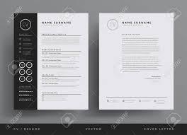 Black And White Letterhead Professional Resume And Letterhead Template Design