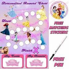 Disney Princess Behaviour Reward Chart Potty Training Stickers
