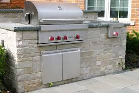glenview il built in grill with bluestone countertop