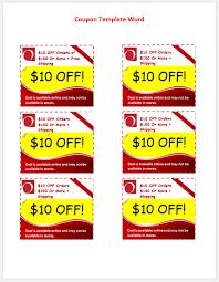 coupon templates word coupon template word 3522