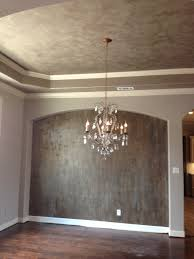 metallic paint colors for wallsModern Masters Venetian Plaster on walls with gold foil accents