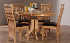 hudson bali round extending oak dining table and 4 6