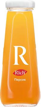 Купить <b>Нектар Rich</b> / <b>Рич</b> Персик в стеклянной бутылке 0,2 л (12 ...