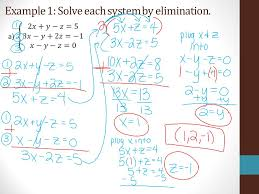 3 example 1 solve each system by elimination