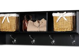 Black Coat Rack With Shelf shelf Entryway Storage Bench And Wall Cubbies Stunning Foyer Bench 72