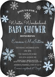 Snowflake Baby Shower Invitations Winter Wonderland Blue Snowflake Baby Shower Invitation Boy Baby
