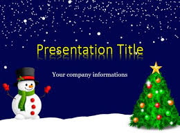 Blue And Gold Powerpoint Template Snowman Powerpoint Template Widh Gold Letters On Blue Background