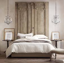 rustic two door headboard