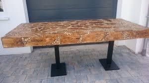 Esstisch Unikat 80cm Massivholz Küchentisch Design