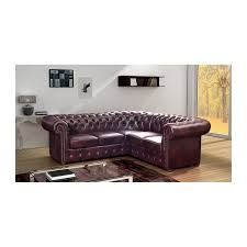 chesterfield corner sofa real leather 245x308cm