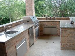 Steel Frame Outdoor Kitchen Kitchen Beautiful Outdoor Kitchen Ideas With Granite Counter Top