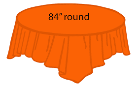 84 plastic round tablecover orange