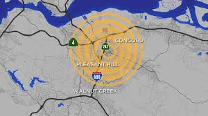 Two 3.4 magnitude earthquakes struck hours apart in the same area in northern california on sunday, according to officials. Magnitude 3 8 Earthquake Hits Near Concord Felt Across Bay Area Abc7 San Francisco
