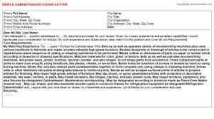 cabinet maker cover letter cabinetmaker apprentice job cover letters