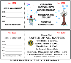 Samples Of Tickets For Fundraising