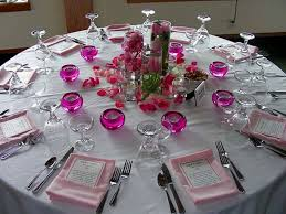 wedding reception round table decorations