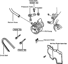 toyota camry a diagram on the power steering pump mounts 3 0 v6 this is the v6 diagram graphic graphic