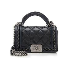Best 25+ Black leather handbags ideas on Pinterest | Kate spade ... & Chanel Rental Small Top Handle Boy Bag ($500) ❤ liked on Polyvore featuring  bags Adamdwight.com