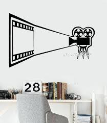 Gorgeous Cinema Movie Vinyl Wall Decals Camera Theater Decor Film Room Wall  Stickers High Quality Wallpaper Removable Cinema Movie Vinyl Wall Decals  Camera ...