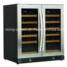 china 30 built in dual zone side by side glass door wine beverage cooler china beverage cooler wine cooler