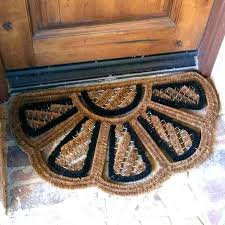 coir door mats outdoor best doormat half round moon entry rugs mat