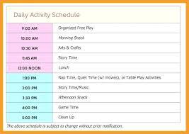 Invoice Schedule Template Template Child Care Invoice Template Free Schedule Family Day Daily