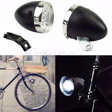 Headlamp Bicycle Light Us 4 53 15 Off New 2017 Arrival Retro 3 Led Bike Bicycle Chrome Visor Bullet Headlamp Headlight Front Tail Light In Bicycle Light From Sports