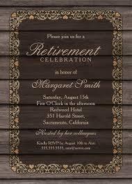 Retirement Celebration Invitation Template Rustic Wood Retirement Party Invitation Template