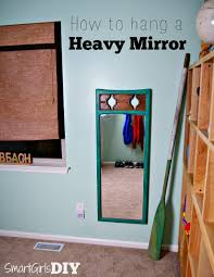 amazing chic how to hang a mirror on the wall interior design ideas heavy diy jpg