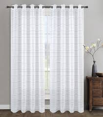 urbanest 54 inch by 63 inch chamon set of 2 sheer curtain dry panels grommet curtainsrod pocket