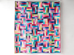 101 best Ombre images on Pinterest | Contemporary, Design and Easy ... & Split Rail Rainbow Quilt Kit Adamdwight.com