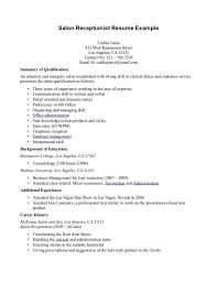 Objective For A Receptionist Medical Receptionist Resume