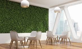 Green office Beautiful Common Area With Mosscovered Wall Facebook Behold The Office Of The Future How Our Workplace Is Changing