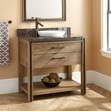 Bathroom Sink Furniture Cabinet 36 Celebration Vanity For Semi Recessed Sink Rustic Acacia
