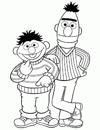 Sesame Street Characters Coloring Pages Elmo Voteforverdecom
