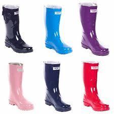 garden boots. New Women\u0027s Glossy Rain Boots Garden Wellies Brand Sizes 6-10