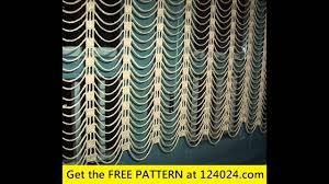 Free Crochet Curtain Patterns Interesting Inspiration Ideas