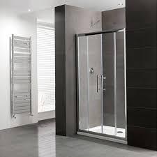 volente double sliding door silver shower enclosure bathroom