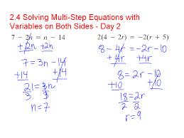 math hw solving one step algebraic equations doc