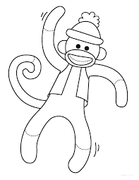 Monkey Coloring Y7447 Free Monkey Coloring Pages Free Printable
