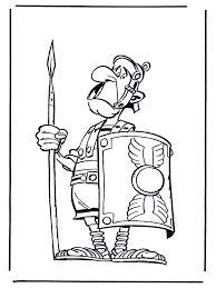 Romeinse Soldaat Asterix Kleurplaat Asterix