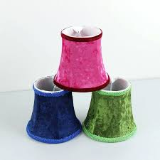 clip on lamp shades for chandeliers red green blue flannel lamp shades chandelier mini lamp cover