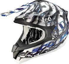 Scorpion Vx 15 Air Oil Cross Helmet Black Blue Scorpion