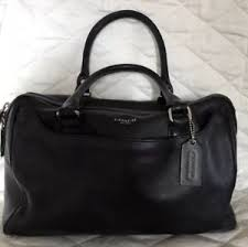 Image is loading COACH-LEATHER-LEGACY-HALEY-BLACK-DOMED-SATCHEL-PURSE-
