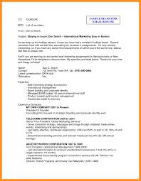 Sample Email For Sending Resume And Cover Letter Short Cover
