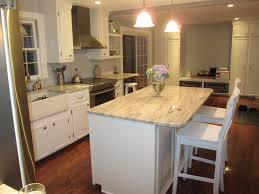 White Cabinets With Granite Countertops Diy Kitchen White Ish