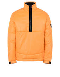 leather anorak stone island men official